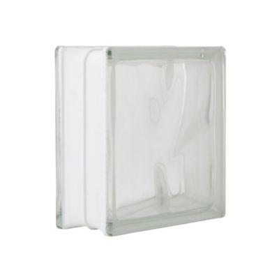 Bloque vidrio transparente 19 cm x 19 cm x 8 cm
