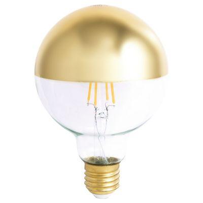 Foco led 8W G95 oro cálida E27 600lm