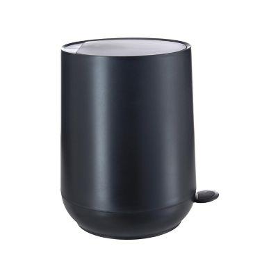 Bote de basura con pedal Egg plástico negro