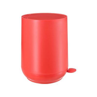 Bote de basura con pedal Egg plástico rojo