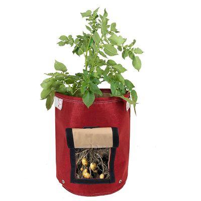 Huerto en bolsa de tela potato rojo 9 gal