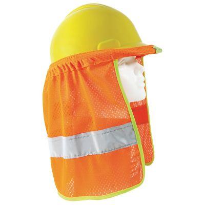 "Cubrenuca para casco naranja c/reflejante gris 2"""