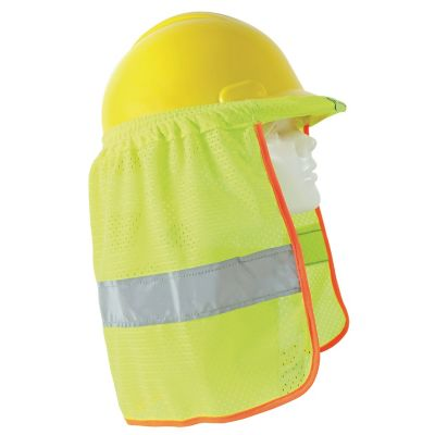 "Cubrenuca para casco amarillo c/reflejante gris 2"""