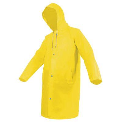 Gabardina impermeable PVC amarilla gorro ajustable M