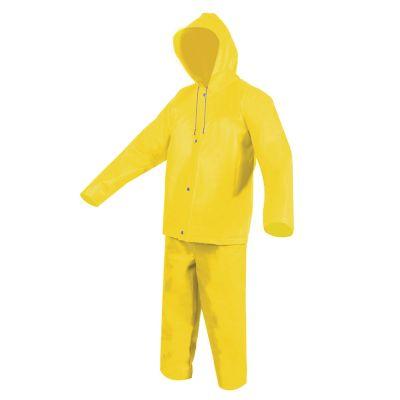 Impermeable amarillo c/gorro de PVC