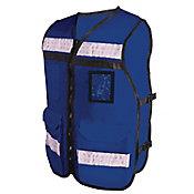 Chaleco con reflejante de rescatista azul c/ 4 bolsas