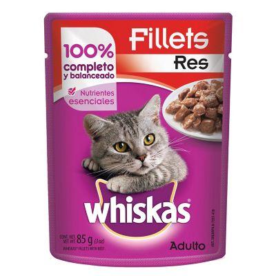 Alimento para gato res en trozos 85 g