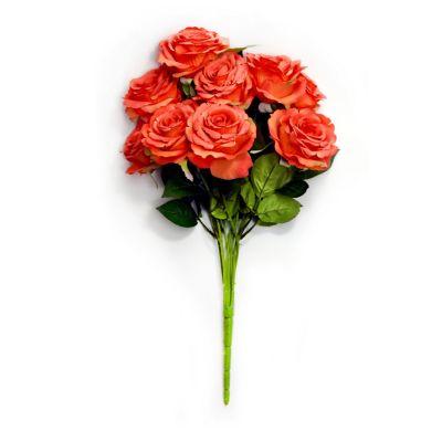 Ramo de 9 rosas naranjas