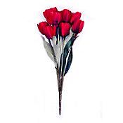 Ramo de 11 tulipanes rojo