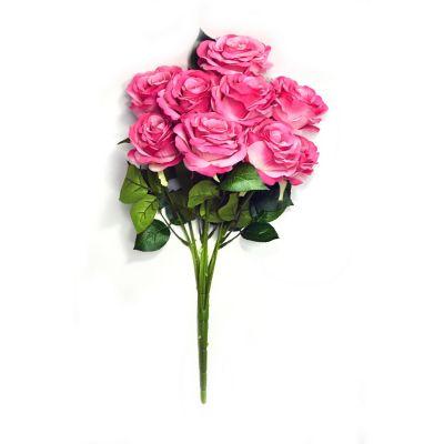 Ramo de 9 rosas fucsia