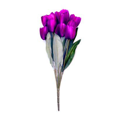 Ramo de 11 tulipanes morado