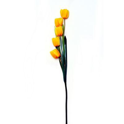 Vara de tulipán amarillo artificial