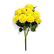 Ramo de 9 rosas amarillo