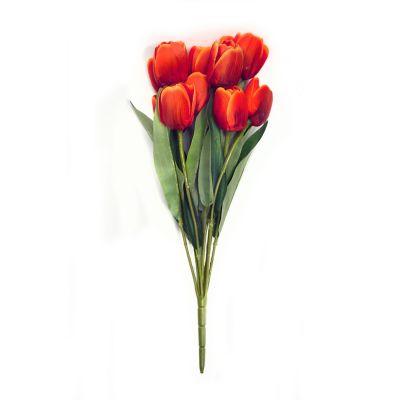 Ramo de 11 tulipanes naranja