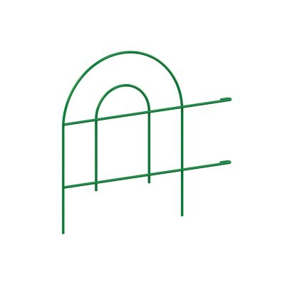 Cerca curva metálica mediana verde 47 x 180 cm