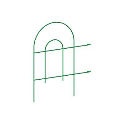 Cerca curva metálica grande verde 61 x 225 cm
