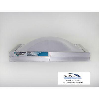 Domo de policarbonato sin ventila 22 x 44 cm