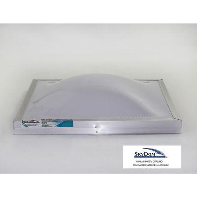 Domo de policarbonato sin ventila 60 x 60 cm