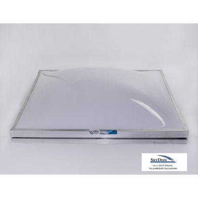 Domo de policarbonato con ventila 120 x 120 cm