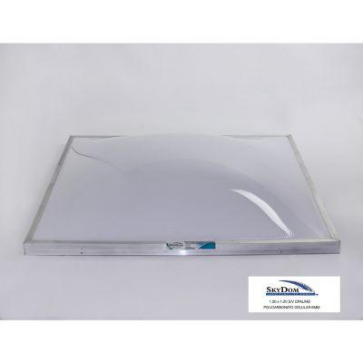 Domo de policarbonato sin ventila 120 x 120 cm