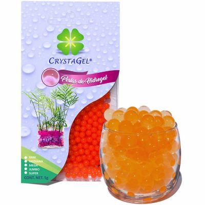 Perlas de hidrogel deshidratadas naranja 5 g