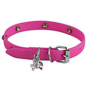 Collar de caucho hipoalergénico extra chico rosa