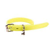 Collar de caucho hipoalergénico chico amarillo