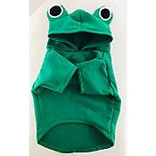 Sudadera mediana verde c/capucha con ojos de rana