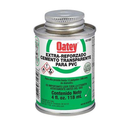 Cemento Extra Reforzado Transparente para PVC de 4 oz