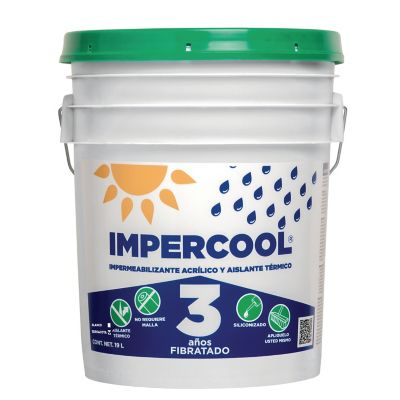 Impermeabilizante Acrílico Fibratado Terracota 3A 19L