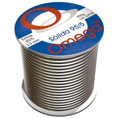 Soldadura omega sólida 95/5 de 450 grs