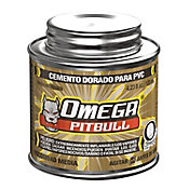 Cemento para pvc omega pitbull dorado bote 125 ml