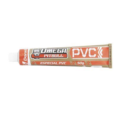 Cemento para pvc omega pitbull dorado tubo 50 grs