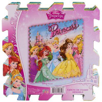 Tapete de goma armable Princesas 96x96 cm
