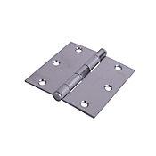 Bisagra 3.5 x 3.5 2.2 mm s/balero c/plana acero inoxidable con tornillo