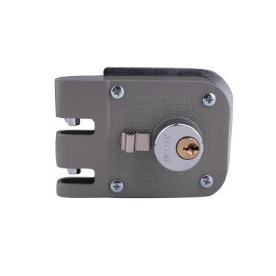 Cerraduras de sobreponer de mordaza izquierda gris