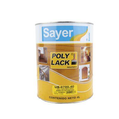 Barniz poliuretano interior Poly Lack 4 L brillante
