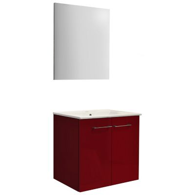 Mueble de baño Street con espejo rojo