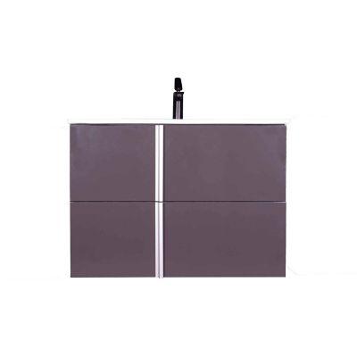 Mueble de baño Onix con espejo gris