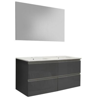 Mueble de baño Vega con espejo gris