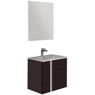 Mueble de baño Onix con espejo roble dakar