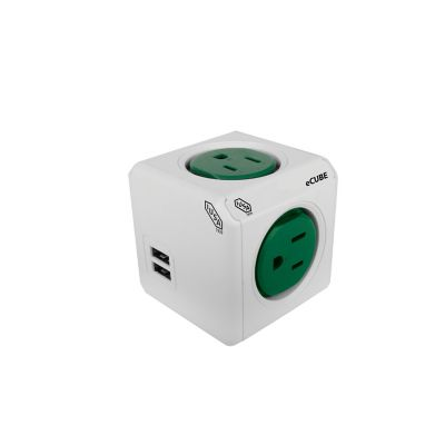 Cubo multiicontacto 2USB 4T