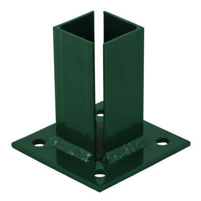 """Base verde para poste de 2"""""""