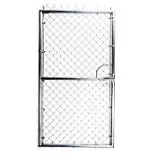 Puerta galvanizada 1 hoja 1 x 2 m tapón marco