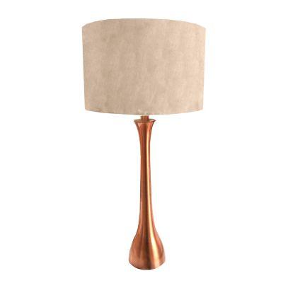Lámpara mesa 40W Apus metal cobre 1luz E26 27cm