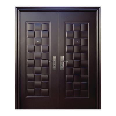 Puerta seguridad Luxury chocolate doble izquierda 170 x 213 cm