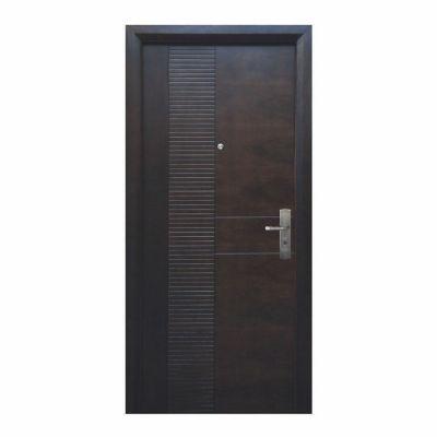 Puerta seguridad Módena nogal izquierda 96 x 213 cm