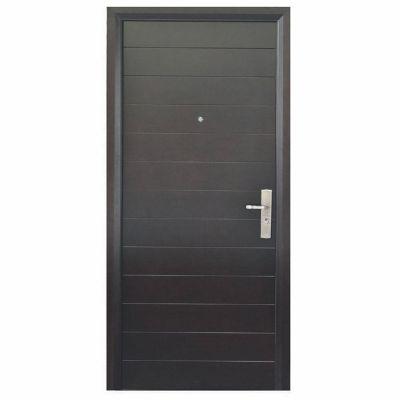Puerta seguridad Contempo nogal izquierda 110 x 240 cm