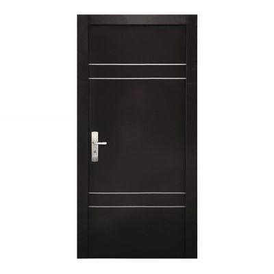 Puerta seguridad Quatro chocolate derecha 95 x 213 cm