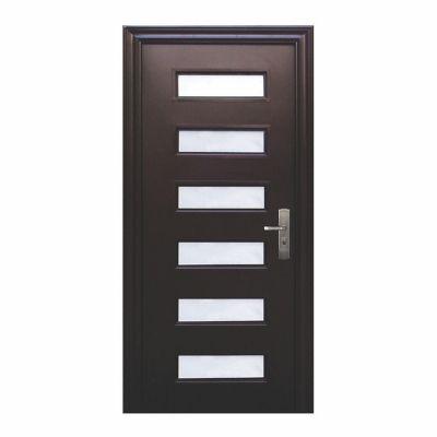 Puerta seguridad Vista chocolate izquierda 95 x 213 cm